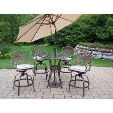 <strong>Oakland Living</strong> Hummingbird Mississippi Swivel Bar Set with Cushions and Umbrella