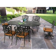 <strong>Oakland Living</strong> Hampton 7 Dining Set with Cushions