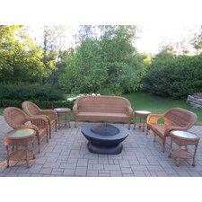 Resin Wicker 9 Piece Lounge Seating Group