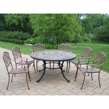 <strong>Oakland Living</strong> Stone Art 7 Piece Dining Set