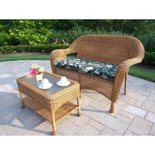 Resin Wicker 2 Piece Lounge Seating Group Set