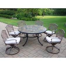 <strong>Oakland Living</strong> Tuscany Stone Art Swivel Chair Dining Set