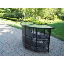 Half Round Wicker Bar Table