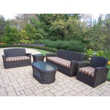 Savannah 5 Piece Wicker Lounge Seating Group