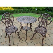 <strong>Oakland Living</strong> Palm Tree 3 Piece Bistro Set