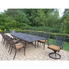 <strong>Oakland Living</strong> Belmont Rectangular Extendable Dining Set with Cushions