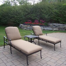 Hampton 3 Piece Chaise Lounge Seating Group Set