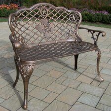 <strong>Oakland Living</strong> Texas Rose Aluminum Garden Bench