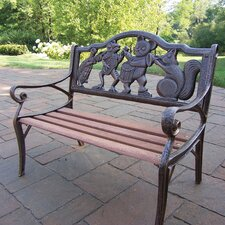 Band Kiddy Wood and Cast Iron Park Bench