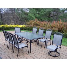 <strong>Oakland Living</strong> Sling 9 Piece Dining Set