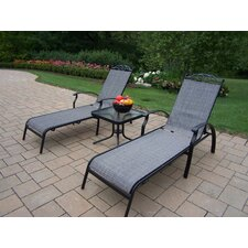 <strong>Oakland Living</strong> Sling 3 Piece Chaise Lounge Set