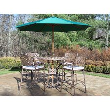 Elite Bar Height Set with Cushions and Umbrella