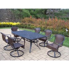 <strong>Oakland Living</strong> Cascade 7 Piece Swivel Dining Set
