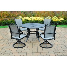 <strong>Oakland Living</strong> Sunray 5 Piece Swivel Dining Set