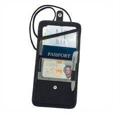 Black ID and Boarding Pass Holder with Snap Closure
