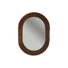 Braided Hand Hammered Oval Copper Mirror