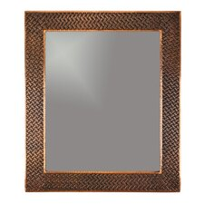 Braided Hand Hammered Copper Mirror