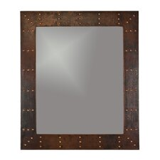 Riveted Hand Hammered Copper Mirror