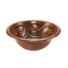 <strong>Premier Copper Products</strong> Round Braided Self Rimming Bathroom Sink