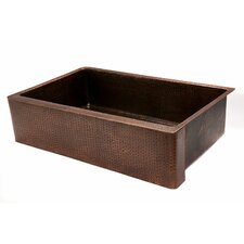 "<strong>Premier Copper Products</strong> 35"" x 22"" Hammered Single Bowl Farmhouse Kitchen Sink"