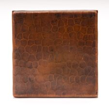 "4"" x 4"" Copper Hammered Tile in Oil Rubbed Bronze"