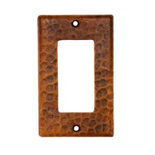 Copper Single Ground Fault / Rocker GFI Switchplate Cover in Oil Rubbed Bronze