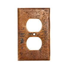 <strong>Premier Copper Products</strong> Copper Switchplate Single Duplex, 2 Hole Outlet Cover in Oil Rubbed Bronze