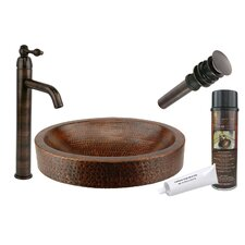 <strong>Premier Copper Products</strong> Compact Skirted Vessel Bathroom Sink