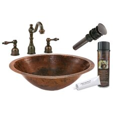 <strong>Premier Copper Products</strong> Master Bath Under Counter Hammered Sink