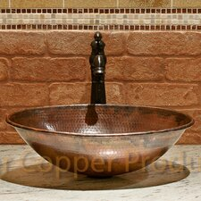 Oval Wired Rimmed Vessel Bathroom Sink