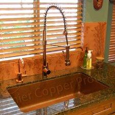 """33"""" x 19"""" Antique Hammered Single Bowl Kitchen Sink"""