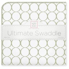 Ultimate Receiving Blanket® in Sage Mod Circles on White