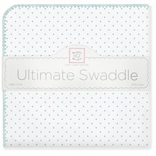 Ultimate Receiving Blanket® in Sea Crystal Polka Dots
