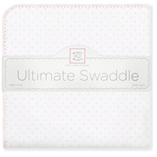 Ultimate Receiving Blanket® in Pastel Pink Polka Dots