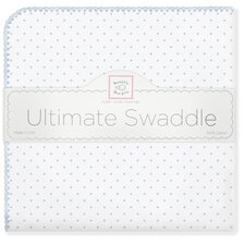 Ultimate Receiving Blanket® in Pastel Blue Polka Dots