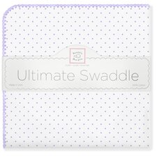 Ultimate Receiving Blanket® in Lavender Polka Dots