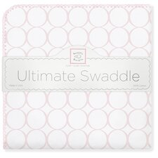 Ultimate Receiving Blanket® in Pastel Pink Mod Circles on White