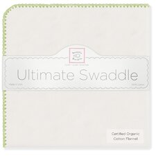 Organic Ultimate Receiving Blanket® in Natural with Kiwi Trim