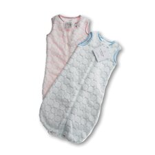 <strong>Swaddle Designs</strong> zzZipMe Sack in Pastel Pink Puff Circle