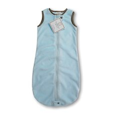 <strong>Swaddle Designs</strong> zzZipMe Sack in Pastel Blue Baby Velvet Solid Pastel with Mocha Trim