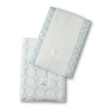 <strong>Swaddle Designs</strong> Baby Burpies® in Pastel Mod Circles on White (Set of 2)