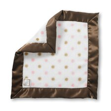 Baby Lovie in Pastel Pink Gold and Pastel Dots with Mocha Trim