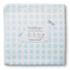 <strong>Swaddle Designs</strong> Organic Ultimate Receiving Blanket® in Pastel Dots and Stars with Pastel Trim