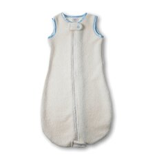 <strong>Swaddle Designs</strong> Organic zzZipMe Sack in Natural with Pastel Blue Trim