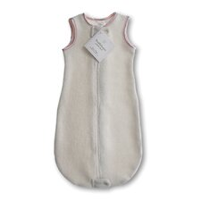 <strong>Swaddle Designs</strong> Organic zzZipMe Sack in Natural with Pastel Pink Trim