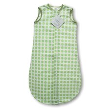 <strong>Swaddle Designs</strong> Certified Organic Cotton Flannel zzZipMe Sack in Kiwi with Dots and Stars
