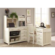 5-Piece L-Shape Desk Office Suite