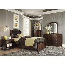 Leather Upholstered Storage Platform Bedroom Collection