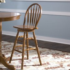 Nostalgia Casual Dining Arrow Back Barstool in Medium Oak