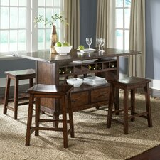 <strong>Liberty Furniture</strong> Cabin Fever Formal 5 Piece Counter Height Dining Set